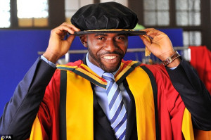 Fabrice Muamba Receives Honorary Degree From University Of Bolton