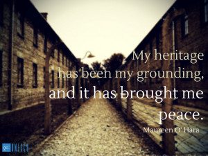 My heritage has been my grounding, and it has brought me peace ...