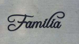 Familia Spanish Word For Family Decorative Metal Wall Art
