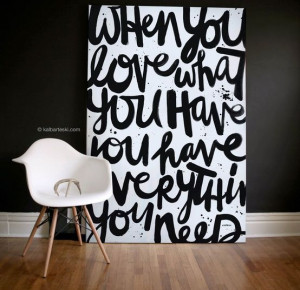 DIY Quotes on Canvas Paintings