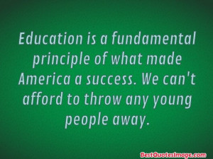 Education Quote - National/Policy