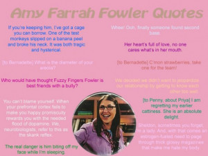 Amy farrah fowler quotes the big bang theory
