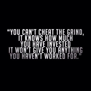 You can't cheat the grind