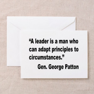 Armed Services Gifts > Patton Leader Quote Greeting Card