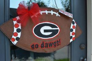 UGA Football Burlap Door Decoration by TopDawgCrafts on Etsy, $30.00 ...