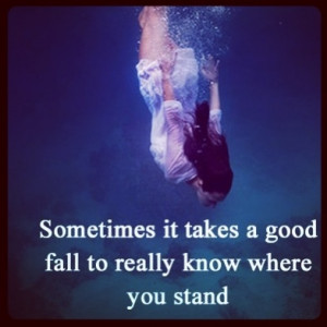 Knowing where you stand quote