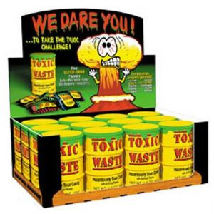 These dangerously sour sweets come in a fantastic toxic waste barrel ...