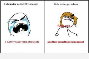Girls Having Periods: Then Vs Now