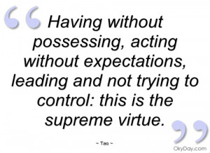 having without possessing