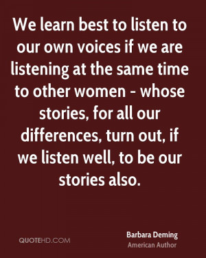 Barbara Deming Quotes