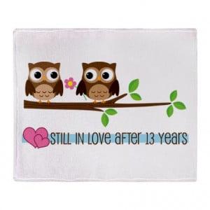 anniversary gifts 13 year anniversary living room owl 13th anniversary ...