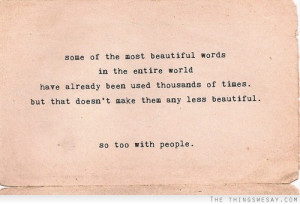 Some of the most beautiful words in the entire world have already been ...