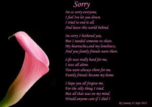 Sorry, I'm So Sorry Everyone. I Feel I've Let You Down. I Tried To ...