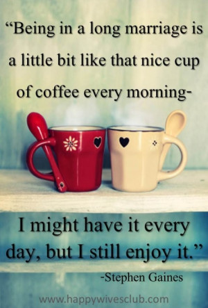 Marriage is Like a Delicious Cup of Coffee