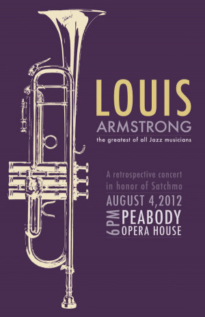 Louis Armstrong Concert Poster