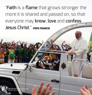 Pope Francis Quote. Perhaps instead of