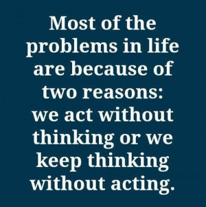Balance your thoughts and actions