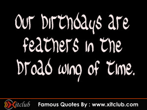 Birthday Quotes by Famous Authors . Famous Birthday Quotes for Women ...