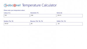 abc.net Temperature Calculator