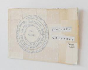 ... Book Collage - Sewn Origina l Paper Collage - Harriet Tubman Quote