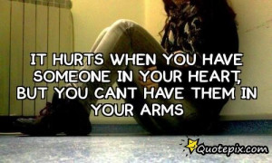 When Someone Hurts Your Heart You Have in It