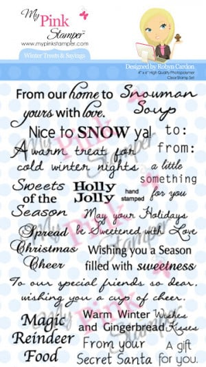 The stamp set that I am featuring today is Winter Treats & Sayings: