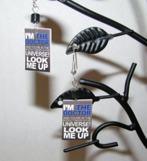 Doctor Who Fish Hook Library Quote with Bead Fish by BadWolfStudio, $ ...