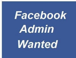 need A facebook page admin