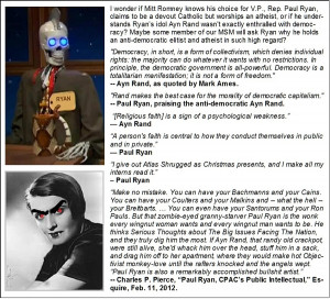 Paul Ryan and Ayn Rand: Cognitive Dissonance Gone Wild