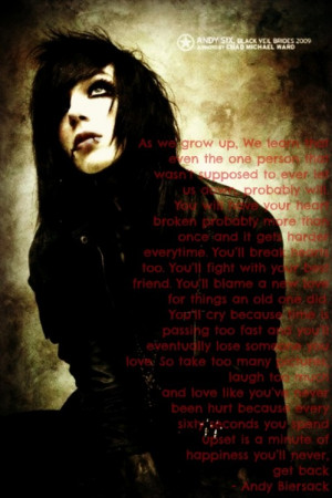 Andy Sixx Quotes Image...
