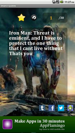 View bigger - Iron Man 3 Quotes for Android screenshot