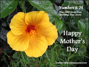 Free Christian Mother's Day Card or Poster printable template