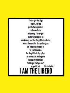 Volleyball Libero Sayings Volleyball libero quotes - google search