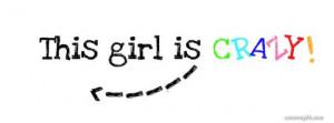 Crazy Girl Facebook Cover
