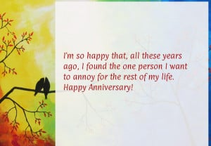 Happy anniversary quotes funny