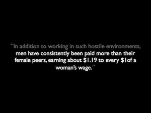 other wages should be compared, then the first sentence centers men ...