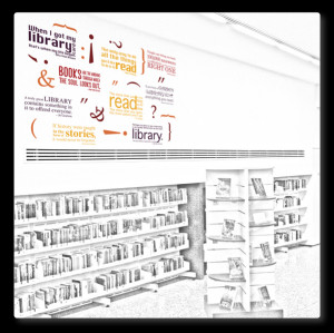 wall decals books quotes wall decals quotes library feature wall decal ...