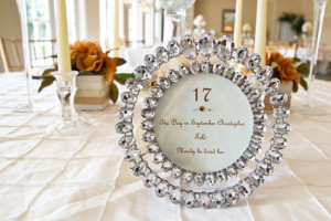Table numbers with fun facts about the couple serve as a great ...