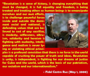 Fidel Castro quote on Revolution