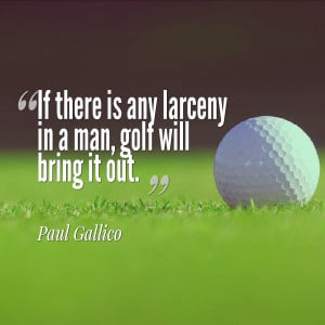 They say golf is like life, but don't believe them. Golf is more ...