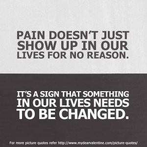 ... because injury happens. Pain isn't always avoidable. So here goes