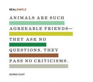 ... ask no questions, they pass no criticisms.
