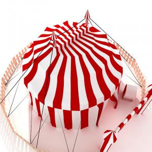 Circus Tent Border Stock