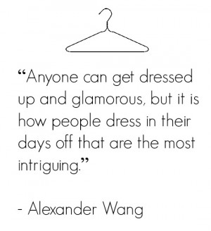 As much as I love seeing glamour, I completely agree with this quote ...