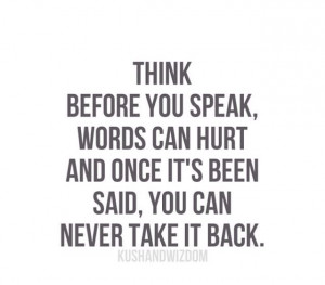 Choose your words wisely...