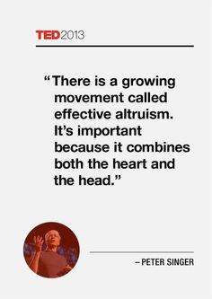 effective altruism. #Altruism #Contribution #Philanthropy #TedTalk # ...
