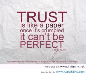Trust quote, trusting quotes, trust quotes love , love and trust quote ...