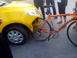 Made-in-China Car vs. Bicycle
