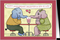 Happy Anniversary to Daughter and Son-in-law-Elephants Share Milkshake ...