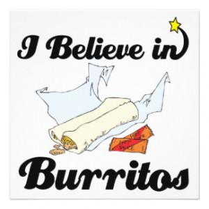 believe in burritos custom announcements